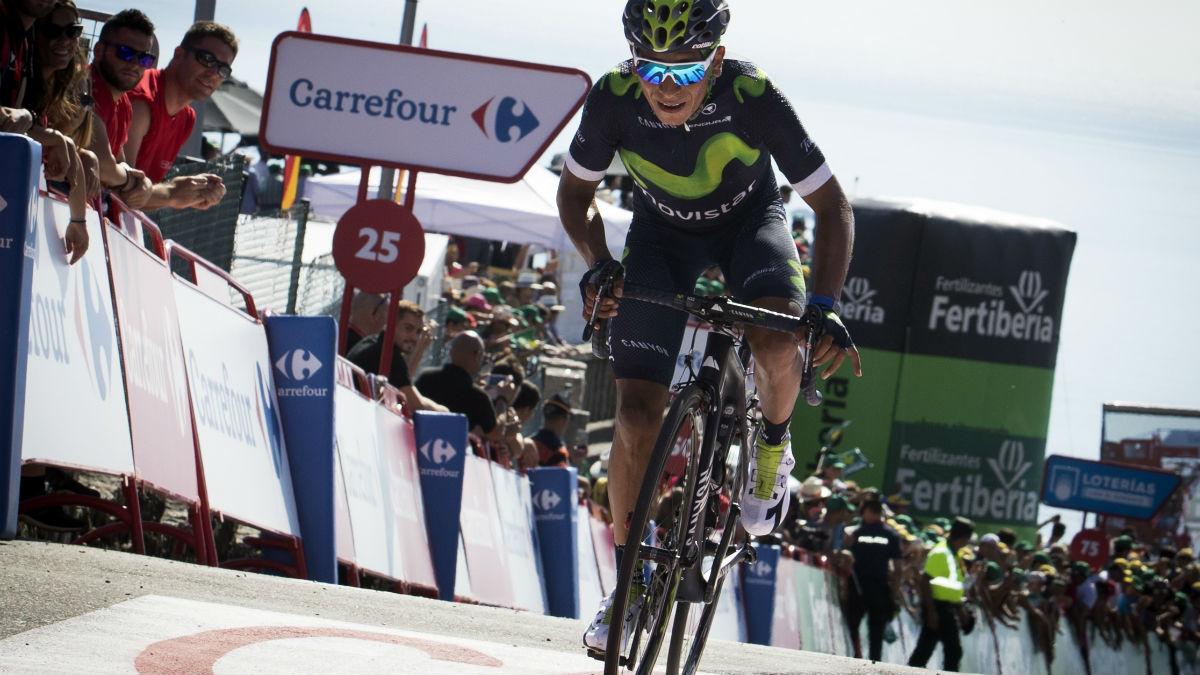Nairo Quintana es el nuevo líder de La Vuelta a España. (AFP)
