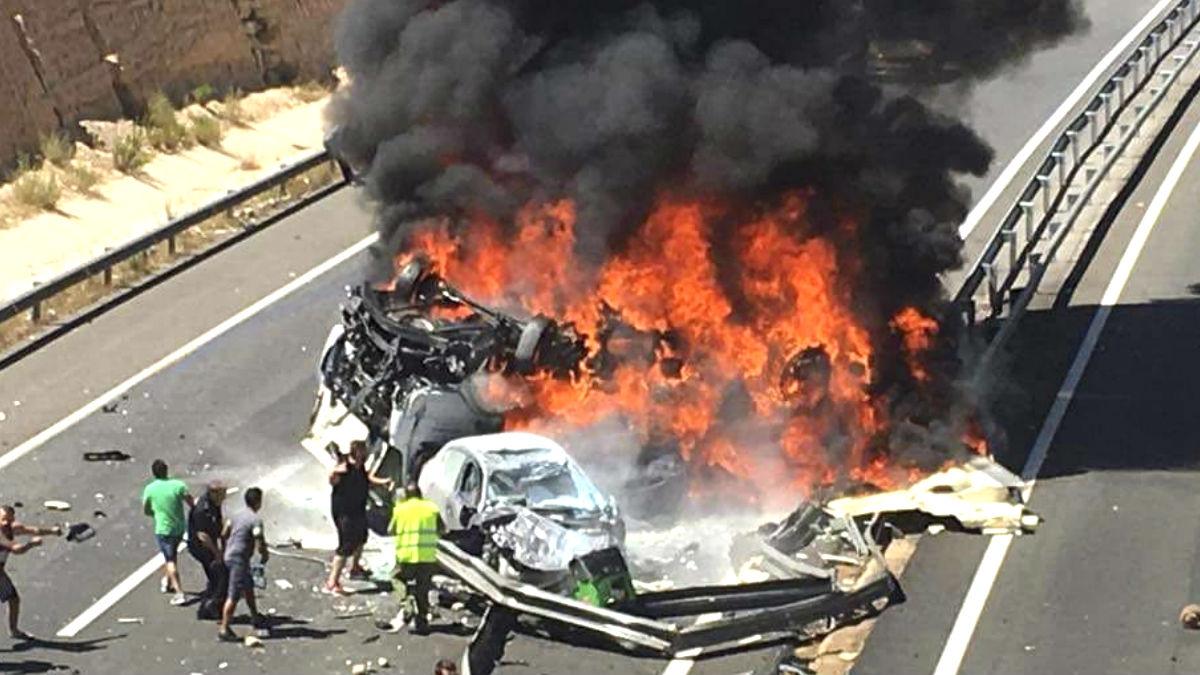 Imagen de un reciente accidente en Elche (Foto: Efe).