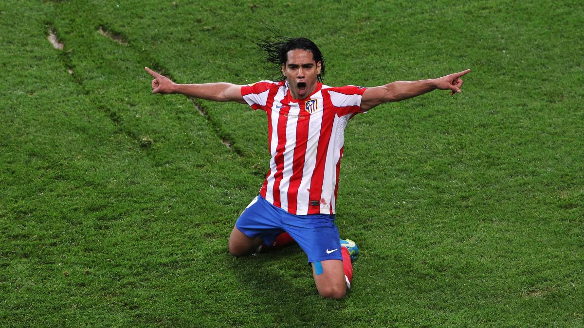 Falcao celebra un gol con el Atlético. (Getty)