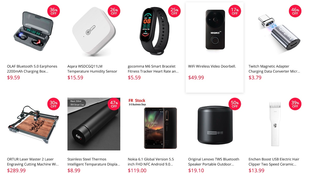Productos Gearbest