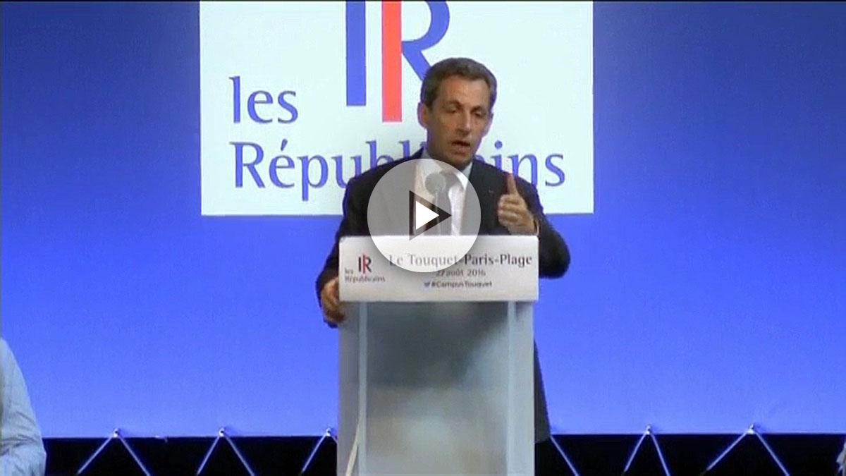 El expresidente francés y aspirante republicano al Elíseo, Nicolas Sarkozy