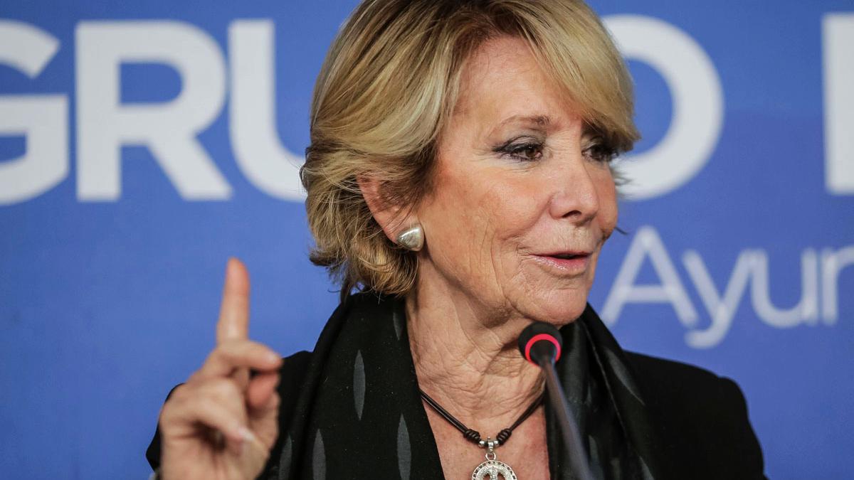 Esperanza Aguirre. (Foto: AFP)