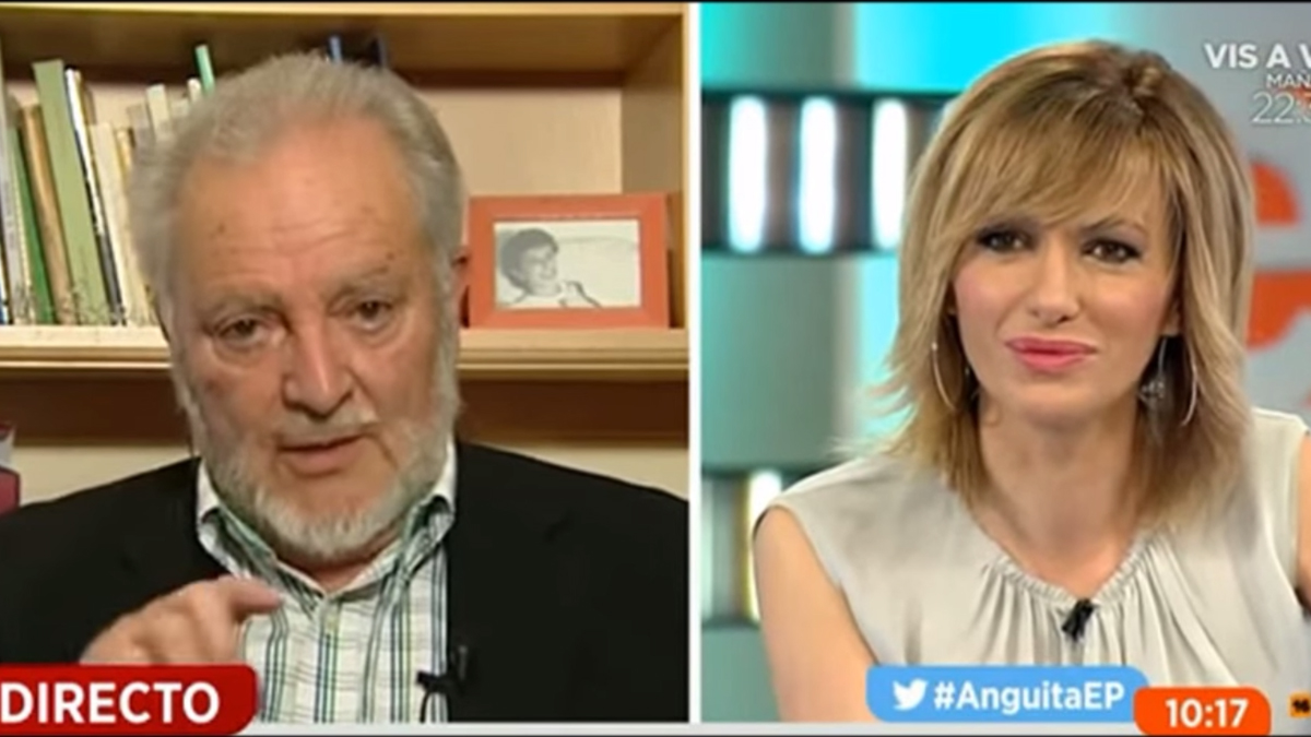 Julio Anguita en 'Espejo Público'. (Foto: Antena 3)