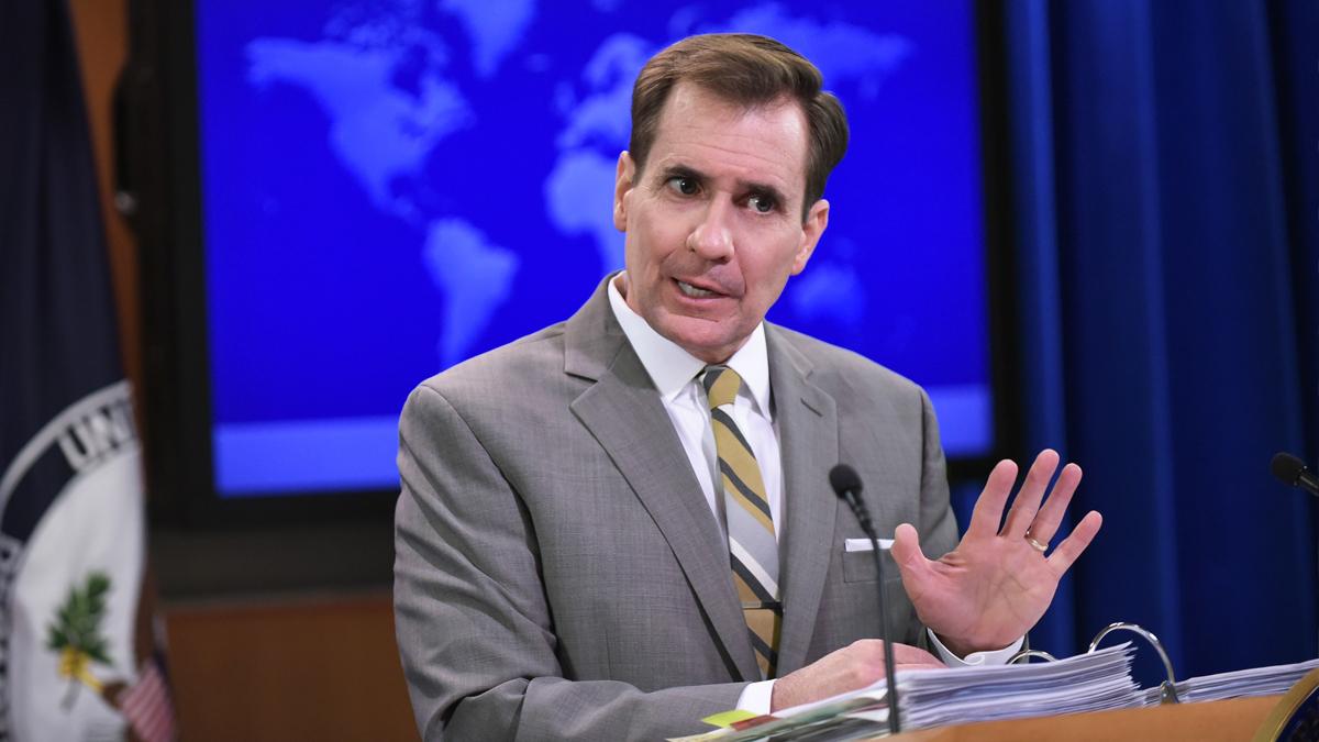 John Kirby, portavoz del Departamento de Estado. (Foto: AFP)