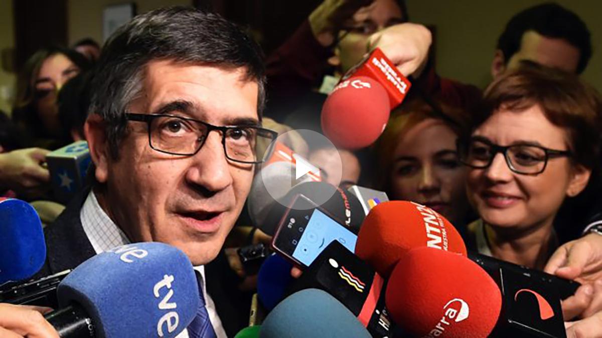 El secretario de Relaciones Políticas del PSOE, Patxi López (Foto: Efe)