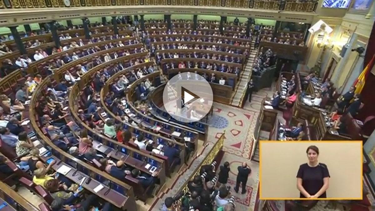 El hemiciclo, durante el discurso de Mariano Rajoy.