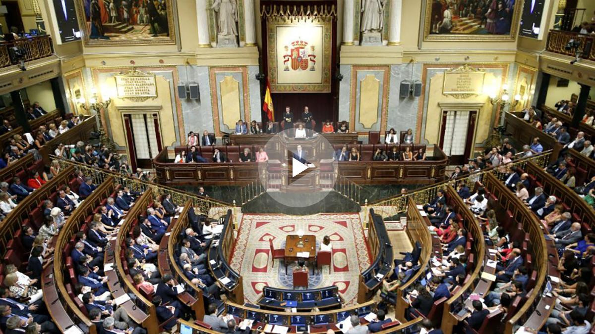 El hemiciclo, durante la intervención de Mariano Rajoy (Foto: EFE)