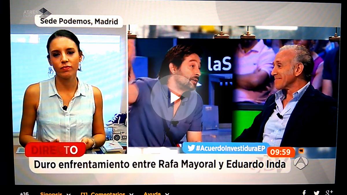 Irene Montero en espejo Público sobre la discusión entre Inda y Mayoral en la Sexta Noche