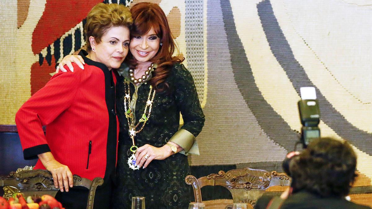 Dilma Rousseff y Cristina Fernández en una imagen de archivo (AFP)