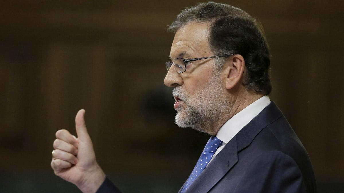 Mariano Rajoy durante su discurso de investidura. (Foto: EFE)