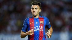 Munir, en un partido del Barcelona de esta temporada.