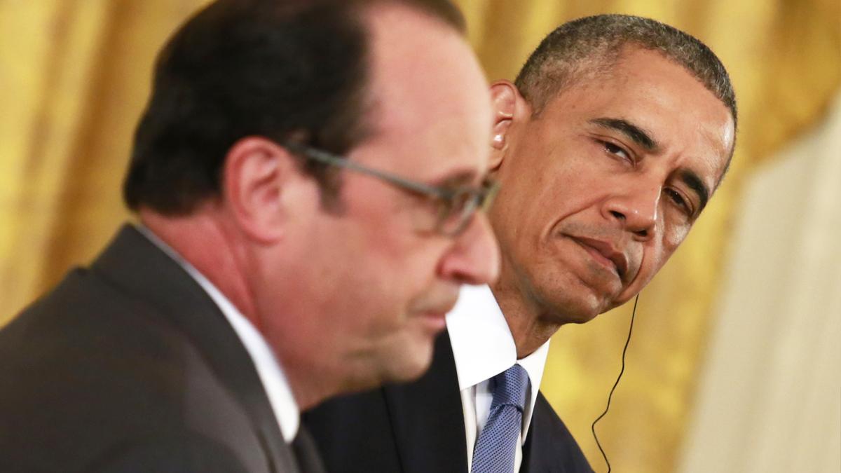 François Hollande y Barack Obama. (Foto: AFP)