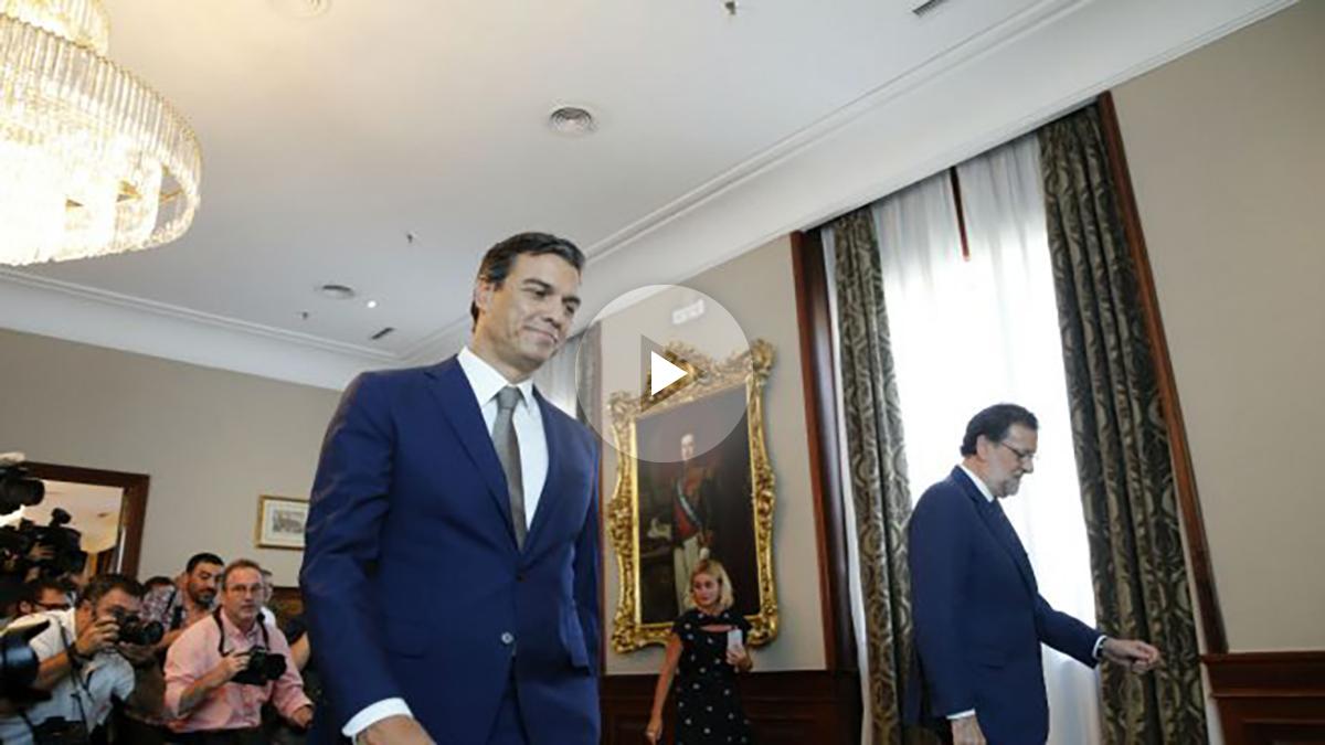 Sánchez y Rajoy, en el Congreso.