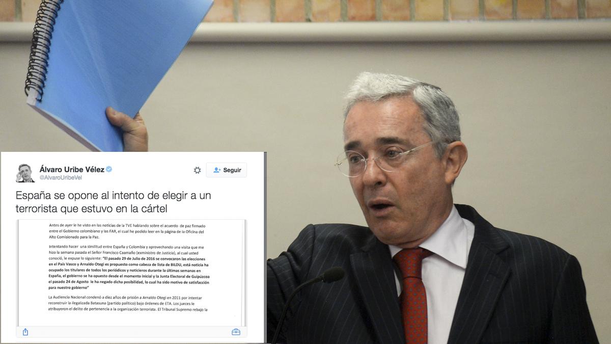 Álvaro Uribe. (Foto: AFP)