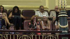 La madre de Pablo Iglesias en la tribuna de invitados. EFE
