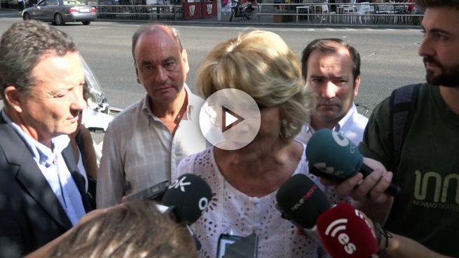 Aguirre presiona a Sánchez: «Su abstención no significa tener Rajoy cuatro años más»