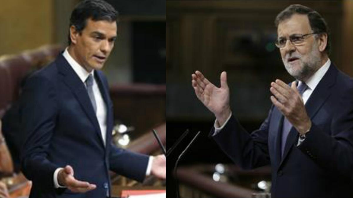 Pedro Sánchez y Mariano Rajoy. (Foto: EFE)