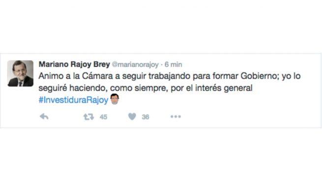 Rajoy da por perdida la investidura antes de terminar la votación