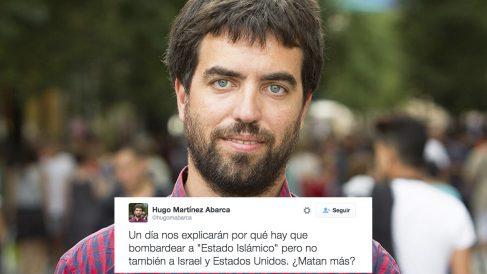 El tuit publicado por el diputado de Podemos en la Asamblea de Madrid Hugo Martínez Abarca. (Foto: Twitter)