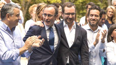 Alfonso Alonso con el secretario de Organización, Javier Maroto