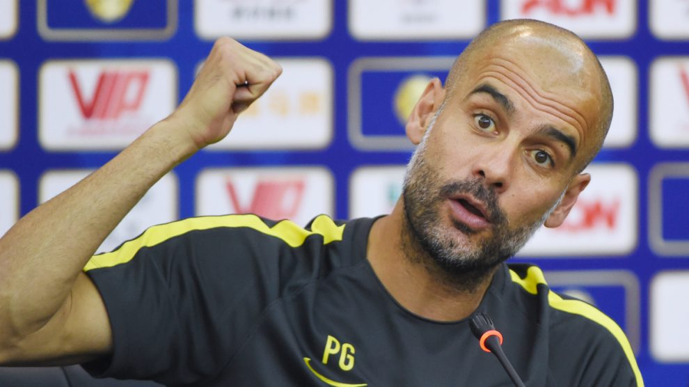 Pep Guardiola. (Foto: AFP)