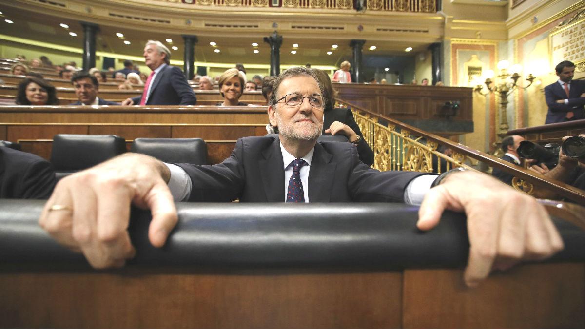 Mariano Rajoy en el Congreso. (Foto: EFE)