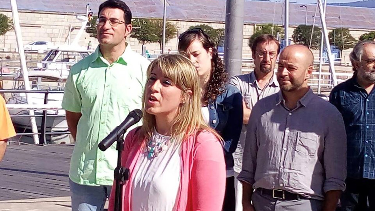 Carmen Santos, secretaria general de Podemos Galicia.
