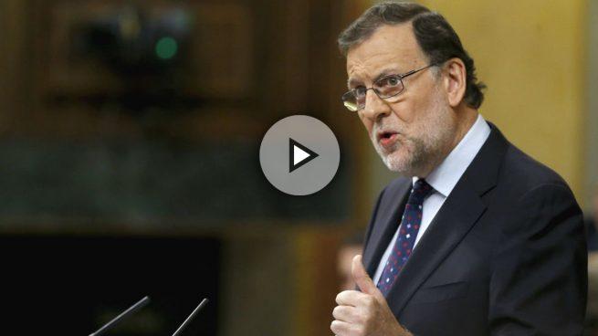 Rajoy, a Sánchez: «Su única alternativa es la indeseable unión de un frente extremista»