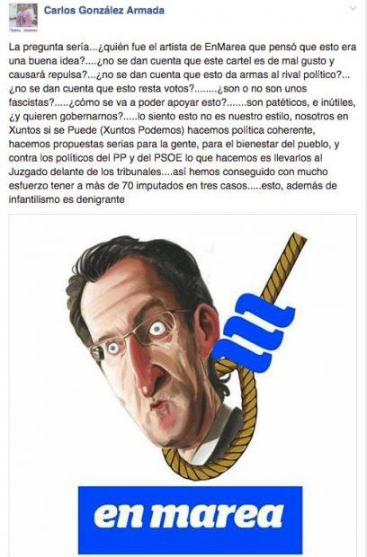 Críticas internas en Podemos a la caricatura de Feijóo.