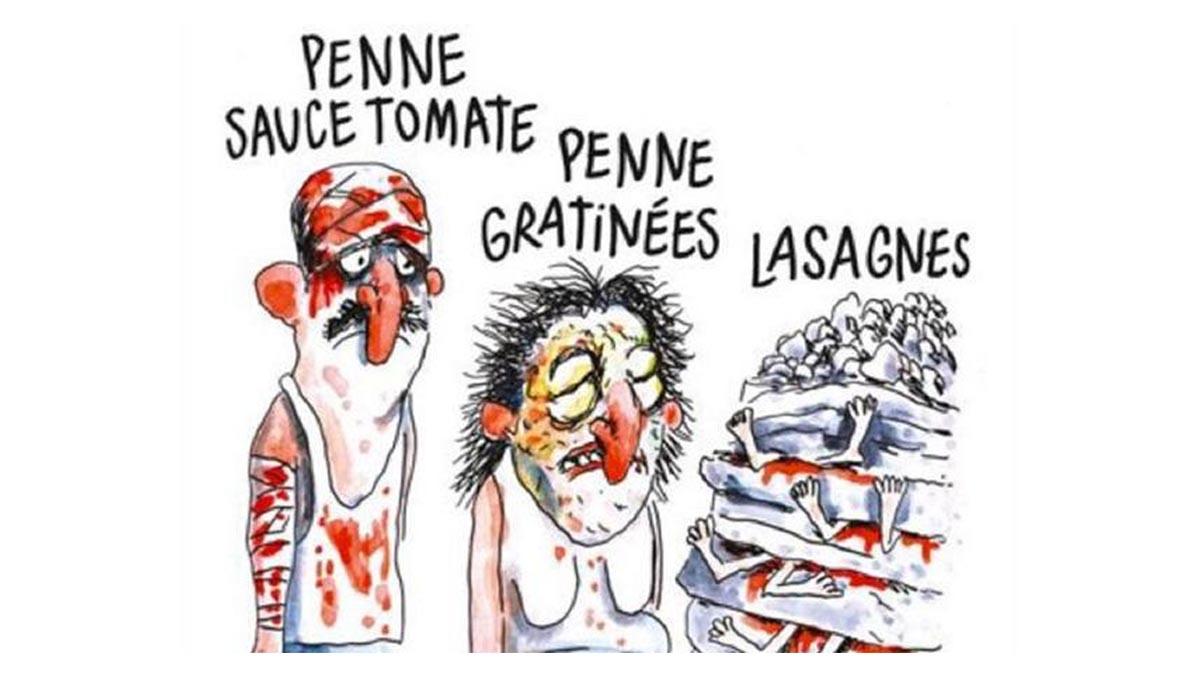 Reproducción de la tira que ha enfurecido al pueblo italiano.