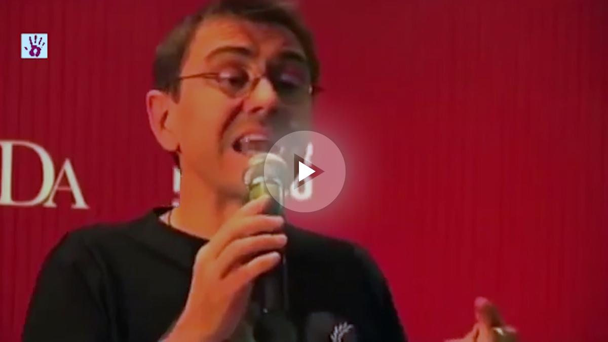 Juan Carlos Monedero, durante una charla ofrecida en México el pasado mes de noviembre.