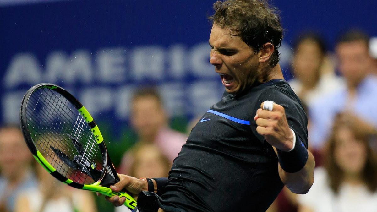Rafa Nadal celebra su victoria ante Kuznetsov en el US Open. (AFP)