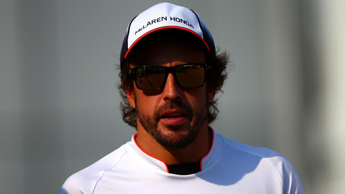 Alonso, después de la clasificación del GP de Italia. (Getty)