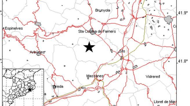 Un terremoto de magnitud 3,6 sacude una comarca de La Selva en Gerona