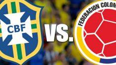 Horario y canal del Brasil vs Colombia