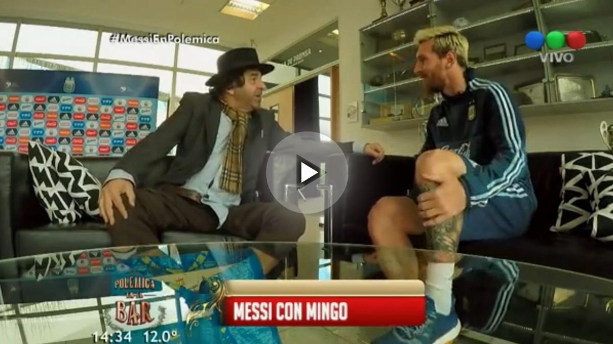 Messi en la televisión argentina.
