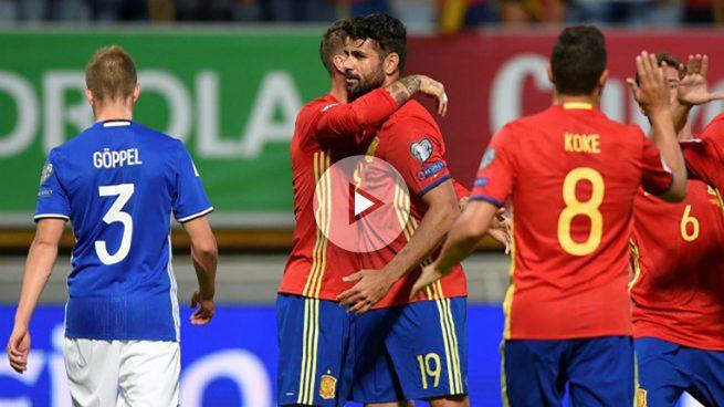 Diego Costa habló sobre el campo con un doblete