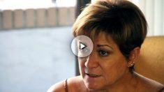 Isabel de la Fuente, madre de una de las víctimas del Madrid Arena, durante la entrevista con OKDIAIRO. (E.F.)