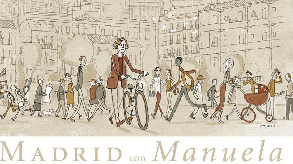 Campaña 'Madrid con Manuela' impulsada por el ilustrado agraciado con 4.200 euros. (Clic para ampliar)
