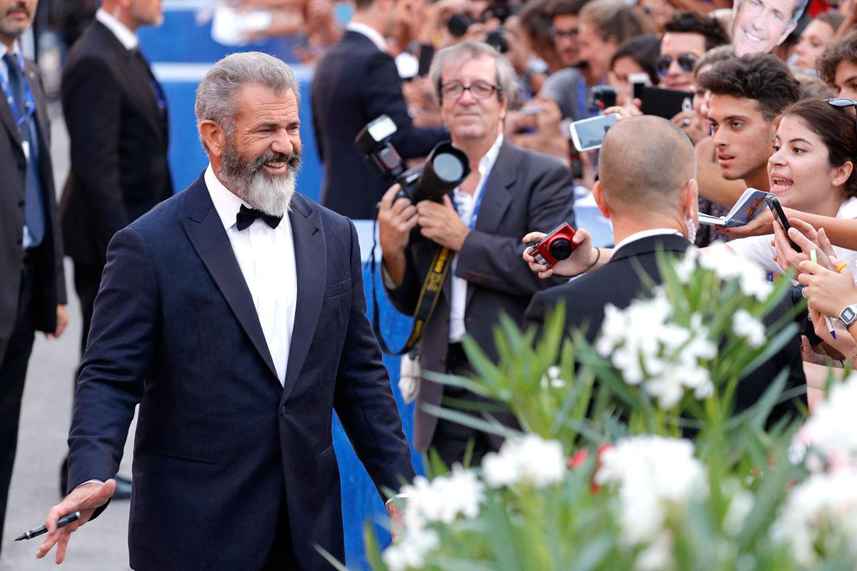 Mel Gibson acudió a la Mostra de Venecia en 2016 para presentar su último trabajo. Foto: AFP
