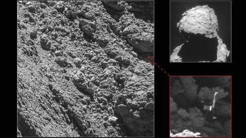 Localización de Philae. (Foto: ESA)