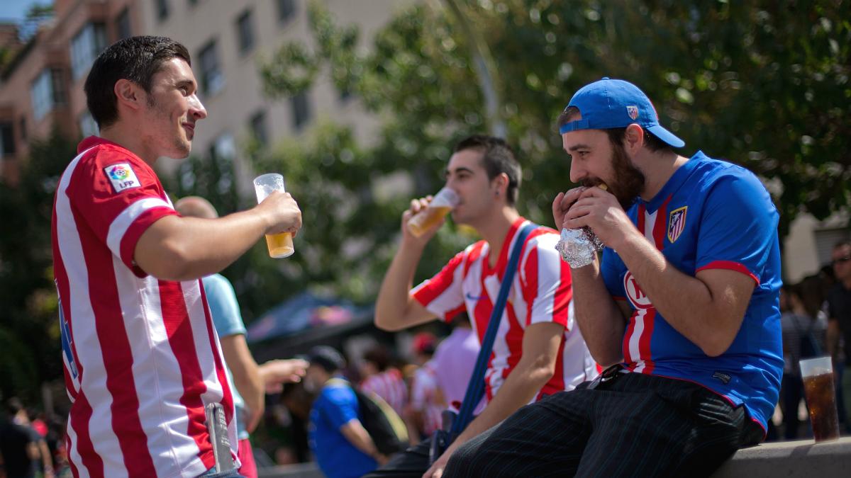 Aficionados del Atlético de Madrid (Foto: GETTY).
