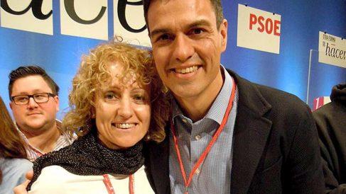Eva Díaz Tezanos y Pedro Sánchez. (Foto: PSOE)