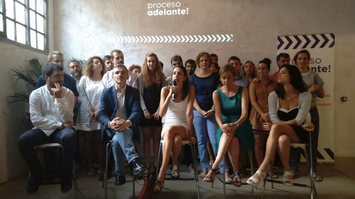 Rita Maestre presentando 'Proceso Adelante'. (Foto: TW)