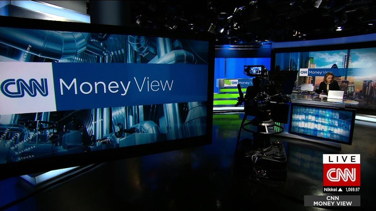 Plató de CNN Money. (Foto: CNN)