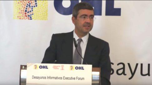 Fernando Jiménez Latorre durante un desayuno informativo.