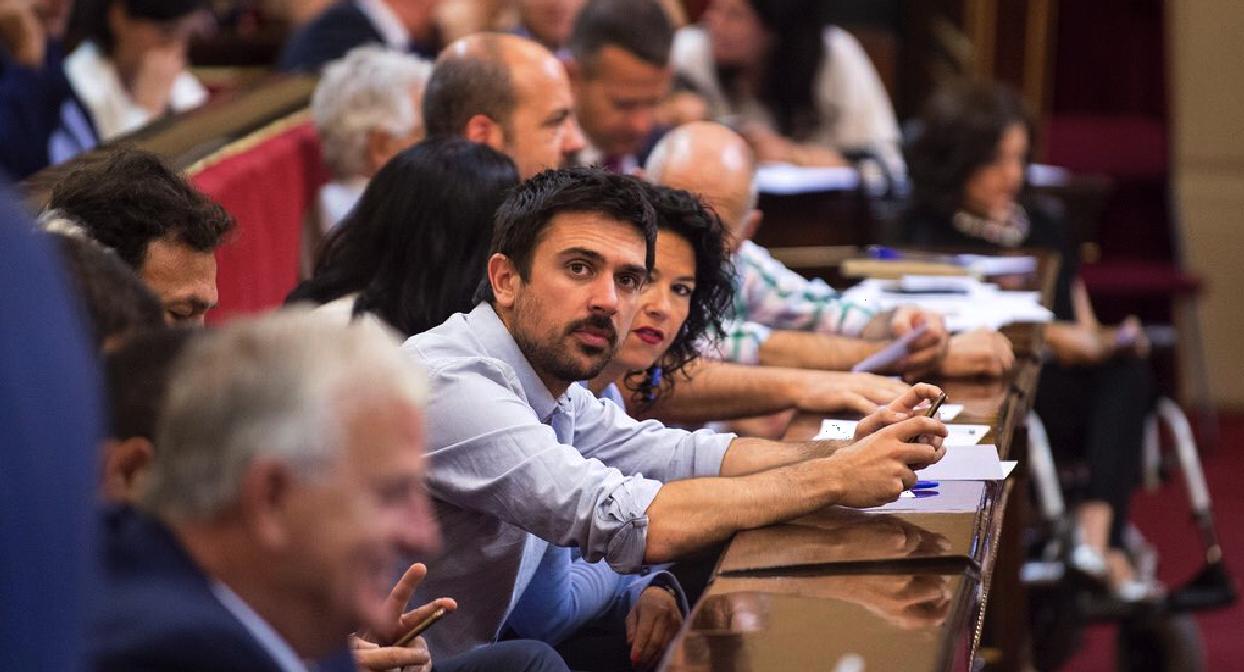 El senador de Podemos, Ramón Espinar, en imagen de archivo. (Foto: TW)