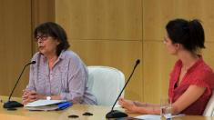 Inés Sabanés (edil de Medio Ambiente) y Rita Maestre (portavoz y líder de Proceso Adelante) en rueda de prensa. (Foto: Madrid)