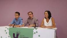 Íñigo Errejon y Carolina Bescansa, presentando la universidad Podemos. (Foto: TW)