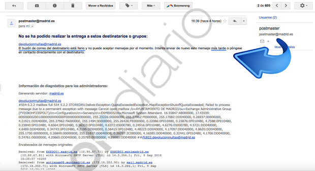 Email devuelto por el Ayuntamiento de Madrid. (Clic para ampliar)